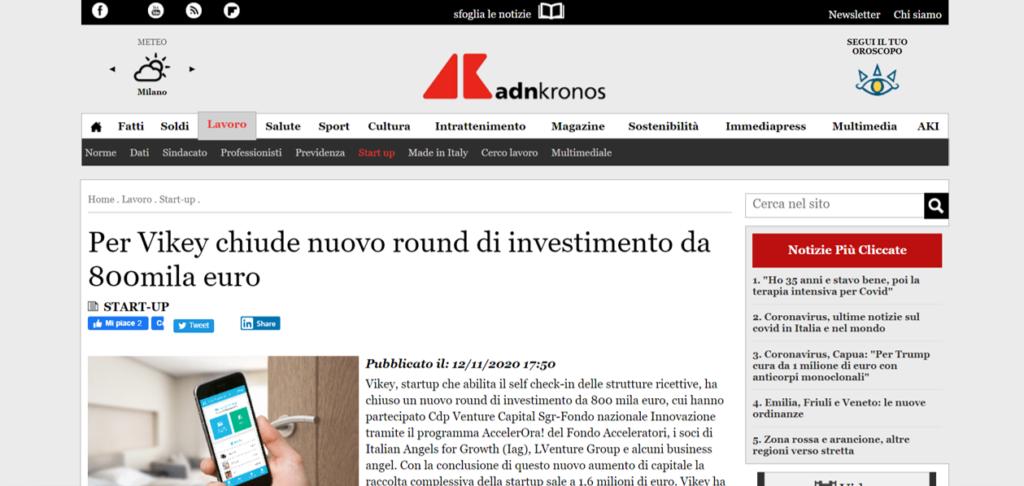 round di investimento