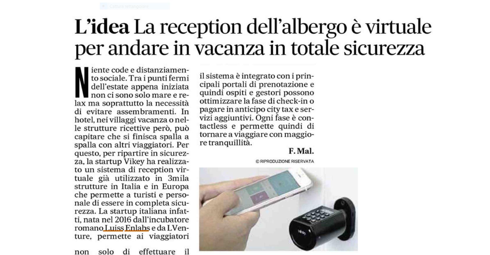 reception virtuale