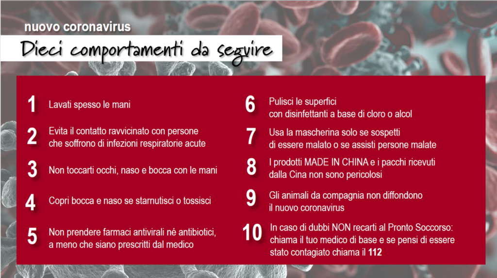 coronavirus OMS regole