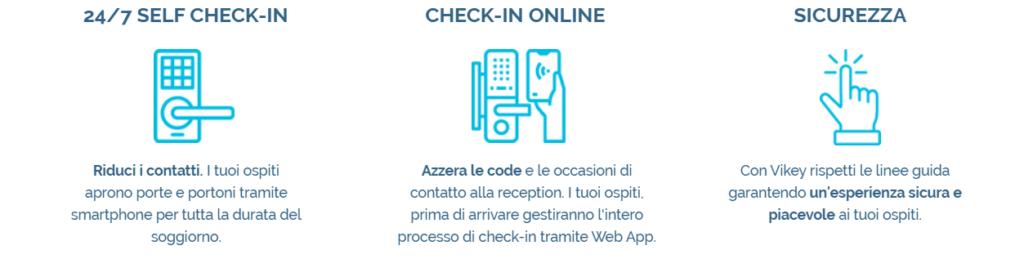 sicurezza self check-in